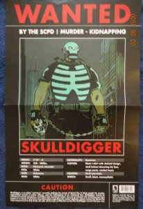 WANTED  SKULLDIGGER Promo Poster, 11 x 17, DARK HORSE Unused 561