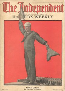 The Independent 6/8/1918-WWI issue 100+ years old-incorporates Harper's Weekl...