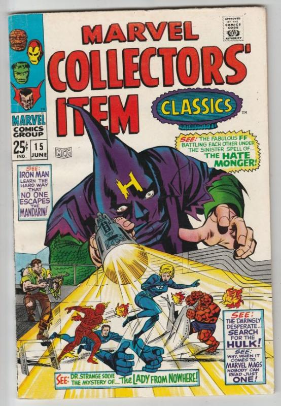 Marvel Collectors' Item #15 (Jun-67) VF/NM High-Grade Fantastic Four, Mr. Fan...