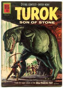 TUROK SON OF STONE #25 GLOSSY DINOSAUR COVER 1961 DELL VG