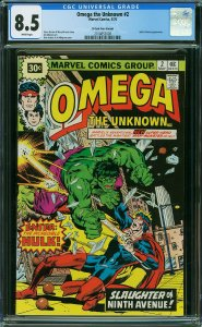 Omega the Unknown #2 (Marvel, 1976) CGC 8.5 - KEY 30 Cent Price Variant
