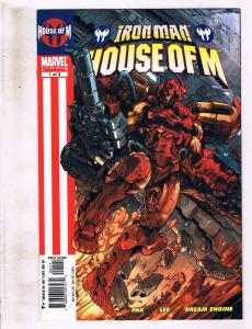 Lot of 3 Iron Man: House of M Marvel Comic Books #1 2 3 AK8