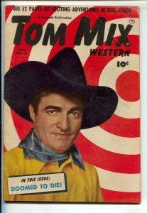 Tom Mix Western #32 1950-Fawcett-Photo cover -Carl Pfeufer story art-VG