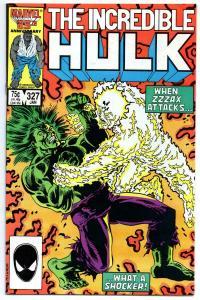 HULK #327, VF, Incredible, Zzzax, 1968 1987, more Marvel in store