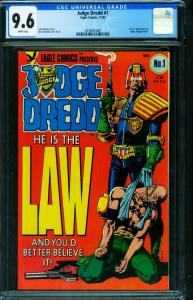 JUDGE DREDD #1 CGC 9.6 1983-Brian Bolland cover 2038907009
