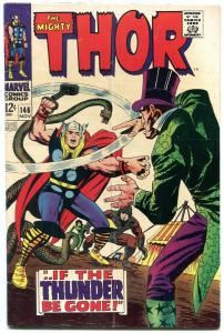 Thor #146 comic book Origin of the INHUMANS Marvel 1967 - VG/F