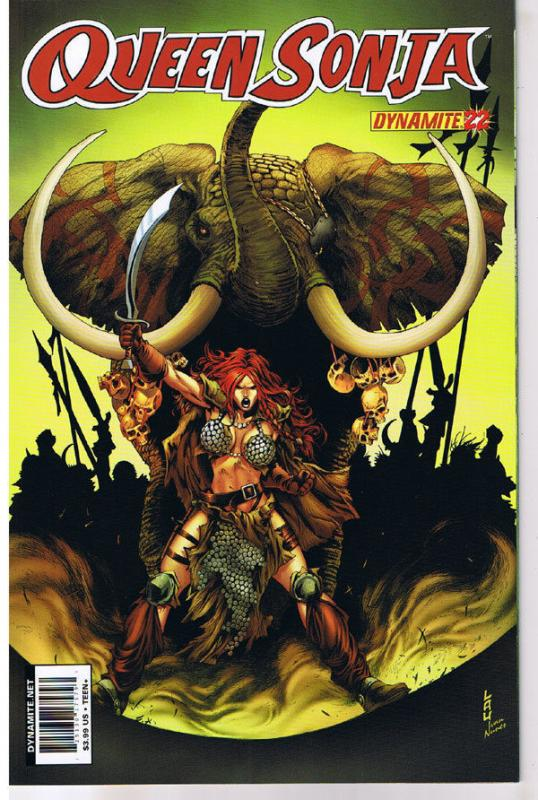 QUEEN RED SONJA #22, NM-, She-Devil, Sword, Jonathan Lau, 2009,more RS in store