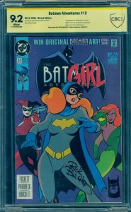 Batman Adventures 12 CBCS 9.2 SS White RARE Signed by Burchett with SKETCH! CGC
