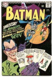Batman #179 1966 Riddler cover-Comic Book DC VG+