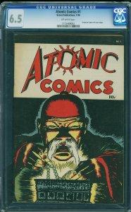Atomic Comics #1 (Green Publications, 1946) CGC 6.5