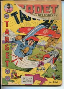 TARGET VOL 3 #7 1942-NOVELTY PRESS-BASIL WOLVERTON ART-CHAMELEON-fr
