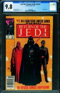 Star Wars: The Return of the Jedi #2 CGC 9.8 NEWSSTAND -2038908009
