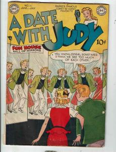 A Date With Judy # 11 FN- DC Comic Book Radio Famous Teenage Romance Comedy JL1