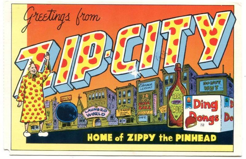 Zippy The Pinhead Postcard Signed By Bill Griffith 1982