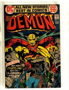 The Demon # 1 VF DC Comic Book Jack Kirby Bronze Age Etrigan Fourth World RS1