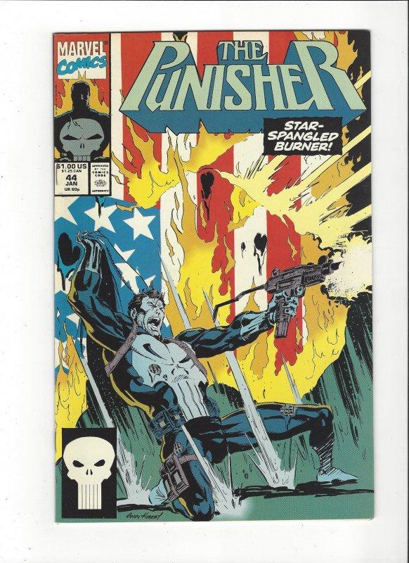 The Punisher #44 (1987) Vs Flag Cover Marvel Comics NM