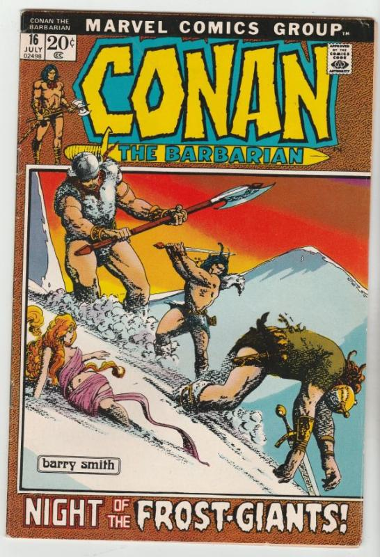Conan the Barbarian #16 (Jul-72) VF High-Grade Conan the Barbarian