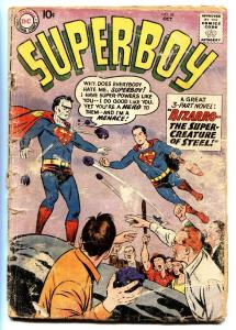 Superboy #68 comic book DC First appearance of Bizarro-Silver-Age 198