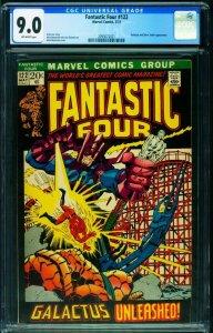 FANTASTIC FOUR #122 CGC 9.0 comic book-Silver Surfer 2093072021