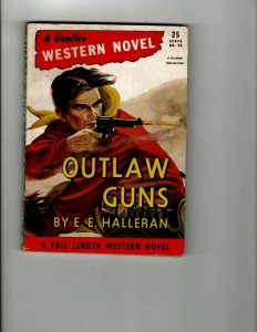 3 Books Outlaw Guns Great Black Kanba The Green Bay Tree Mystery Thriller JK12