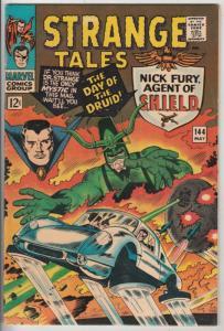 Strange Tales #144 (May-66) VF/NM High-Grade Nick Fury, S.H.I.E.L.D., Dr. Str...