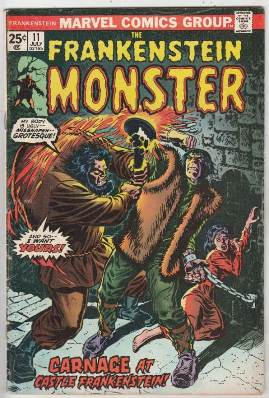 Frankenstein, the Monster of #11 (Jul-74) VG/FN Mid-Grade Frankenstein