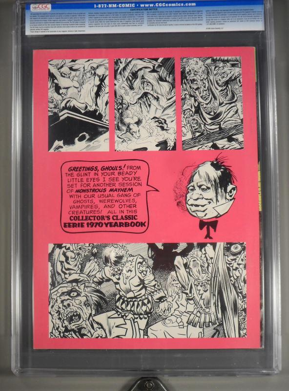 Eerie Yearbook #1970 (Warren, 1970) CGC NM 9.4 Off-white to white pages.