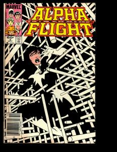 12 Alpha Flight Marvel Comics # 3 4 5 7 23 41 48 49 50 51 62 64 EK4