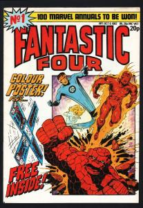 FANTASTIC FOUR #1-JACK KIRBY ART-RARE BRITISH EDITION-M FN