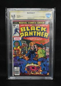 Black Panther #1 (Marvel, 1977) CBCS 6.5 ver Sig - Stan Lee