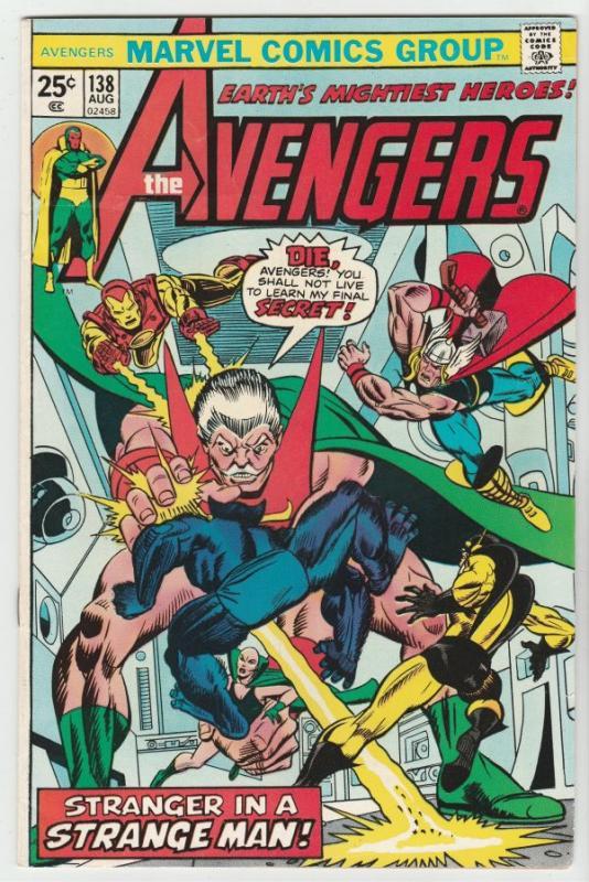 Avengers, The #138 (Aug-75) VF+ High-Grade Avengers