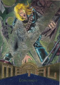 1995 Fleer Marvel Metal LONGSHOT #102  Card