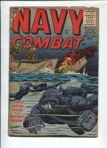 NAVY COMBAT #9 1956-ATLAS-DAVY BERG-DON HECK-VG-