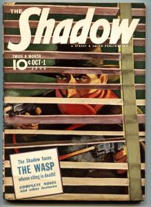 SHADOW PULP Oct 1 .1940. SUPERB COVER - THE WASP - SHADOW NEWS - HIGH GRADE