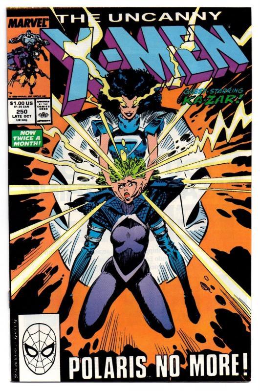 The Uncanny X-Men #250 (Oct 1989, Marvel) - Very Fine/Near Mint