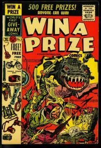 Win a Prize Comics #2 1955- Charlton- Jack Kirby Horror cover- Rare- VF