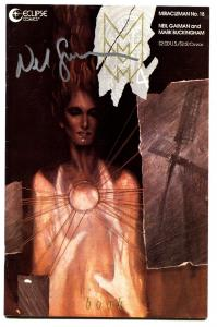 MIRACLEMAN #18-signed by NEIL GAIMAN 1990-ECLIPSE-COPPER AGE