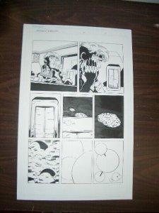 COMMON GROUNDS #2 PG 7 ORIGINAL COMIC ART--DAN JURGENS FN