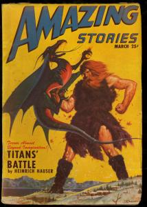 AMAZING STORIES 1947 MAR-COOL SCI FI PULP FN