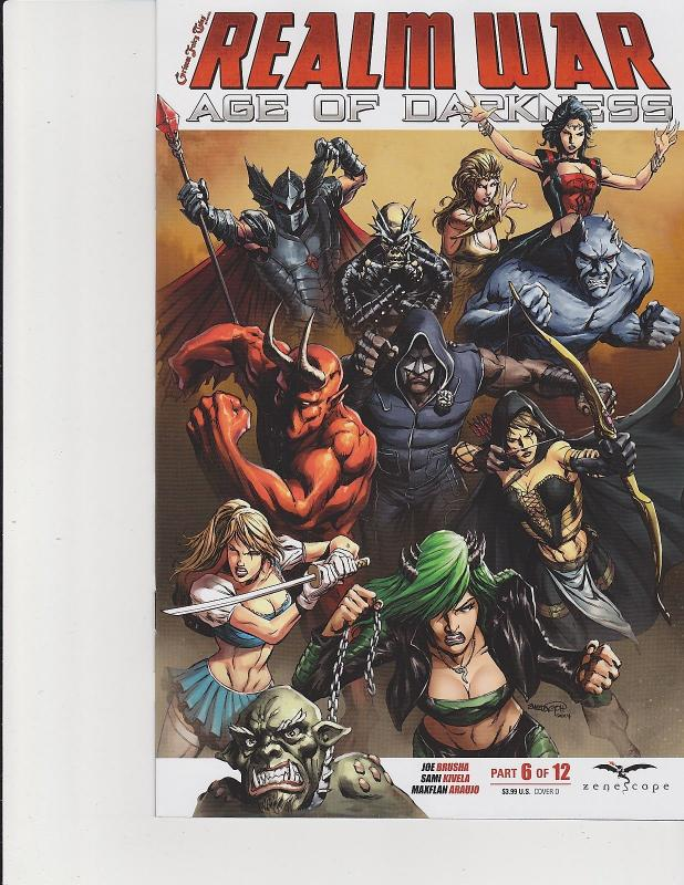 Realm War 6 Cover D Zenescope Age Of Darkness Comic GFT NM Goh