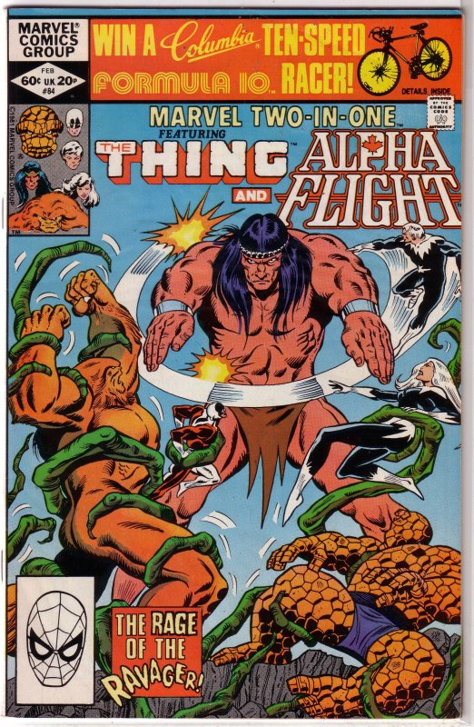 Marvel Two-in-One   vol. 1   # 84 VG Thing/Alpha Flight, DeFalco/Wilson