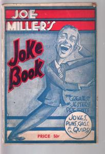 Joe Miller's Joke Book1943-Padell-jokes-wacky humor-;ow print run-rare-VG/FN