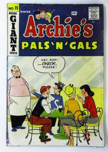 Archie's Pals 'N' Gals #15, Good+ (Actual scan)