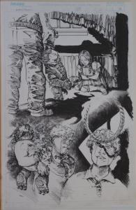 MICHAEL ZULLI original art, WITCHBLADE #47, pg #16, 11x17, Splash, 2001