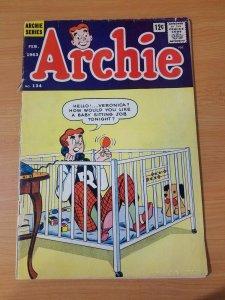 Archie #134 ~ GOOD GD ~ (1963, Archie Comics)