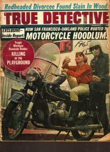 True Detective Magazine August 1965-Motorcycle Hoodlums Hells Angels