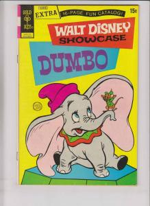 Walt Disney Showcase #12 VF dumbo - gold key comics w/ 16-page fun catalog 1972