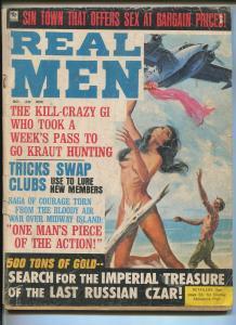 REAL MEN 10/1969-GOOD GIRL ART COVER-EXPLOITATION-SCANDAL-CHEESECAKE PIX -good