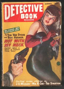 Detective Book-Summer 1948-Norman Saunders pin-up girl style cover-George Gro...