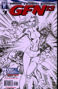 Gen 13 (2006 4th Series) 1 in 50 Sketch Cover - NM